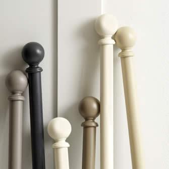 Jones Interiors I Curtain Poles I Handcrafted I Wood I Metal